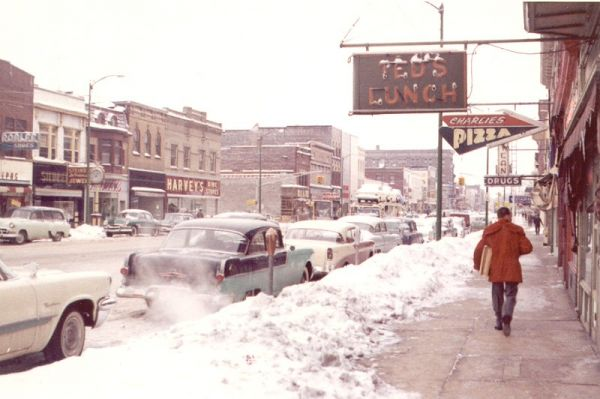 Winter Scene in downtown La Porte 1959