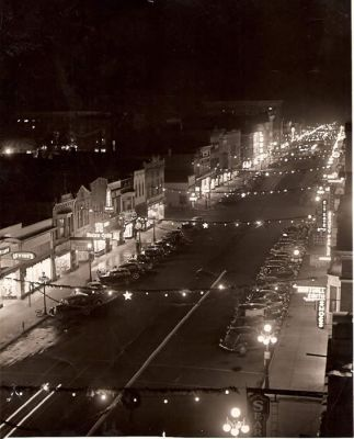 Downtown La Porte in the 1930s