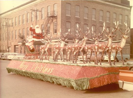 Santa and his Reindeer on Parade